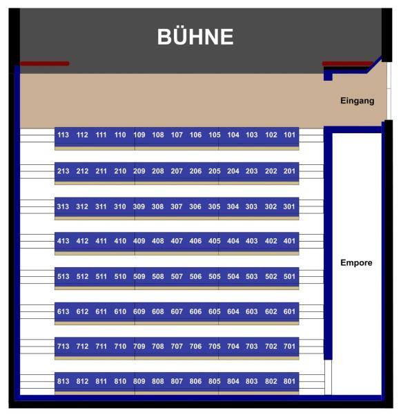 Theater Wedel Saalplan - Übersicht der Sitzplätze