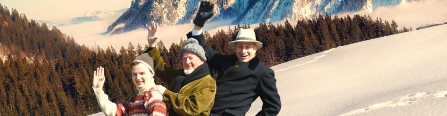 Theater Wedel - Drei Männer im Schnee von Erich Kästner - Banner